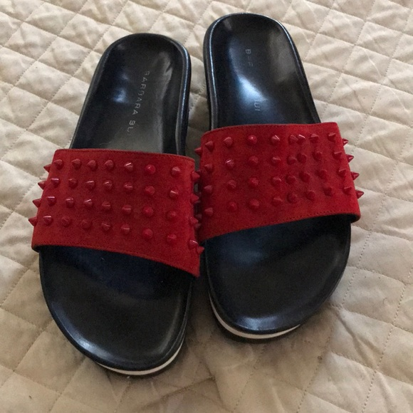 3eaf830bb Barbara Bui Shoes | Studded Slides | Poshmark